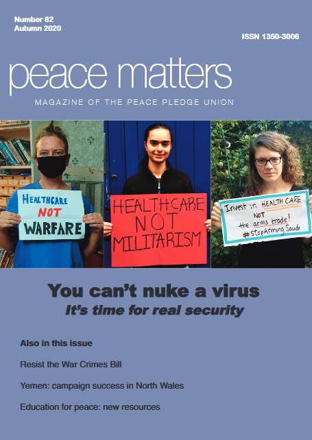 Front cover of Peace Matters 82 - Autumn 2020