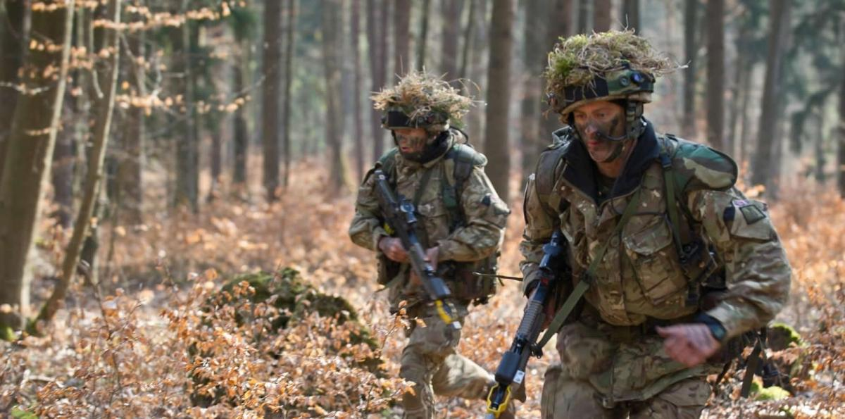 UK soldiers in training