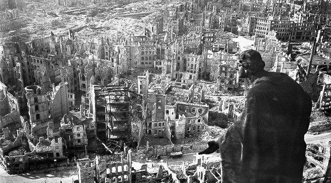Dresden after the bombing of February 1945