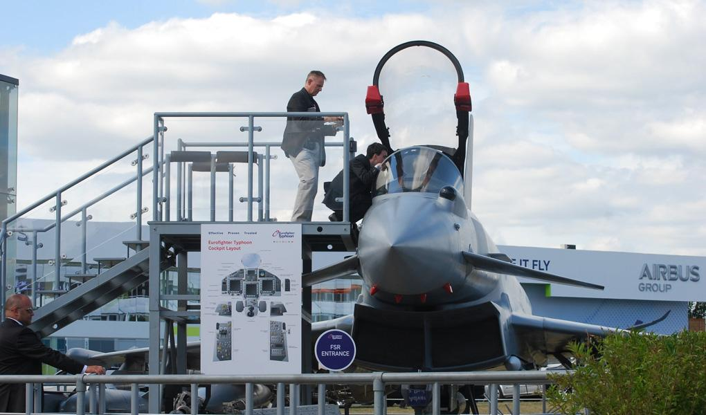 Eurofighter on display at Farnborough 2018