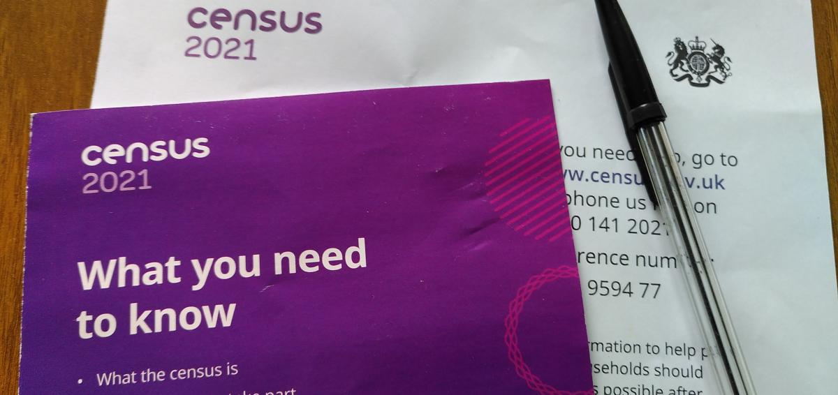 Leaflets promoting the Census 2021