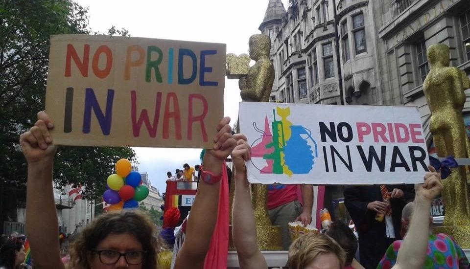 No Pride in War - protest at London Pride 2016