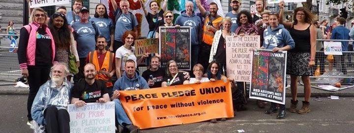 No Pride in War activists