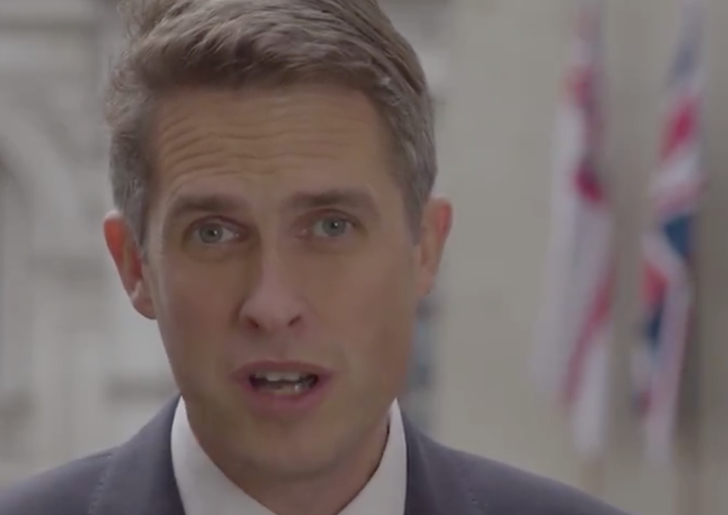 Gavin Williamson backing the red poppy appeal