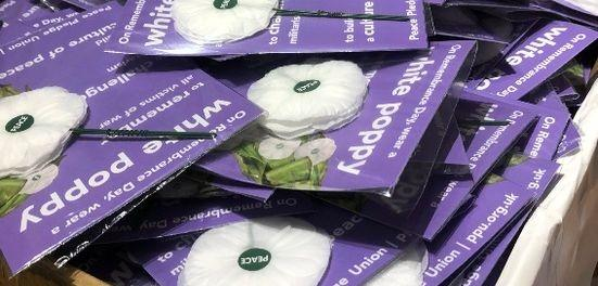 Packs of white poppies