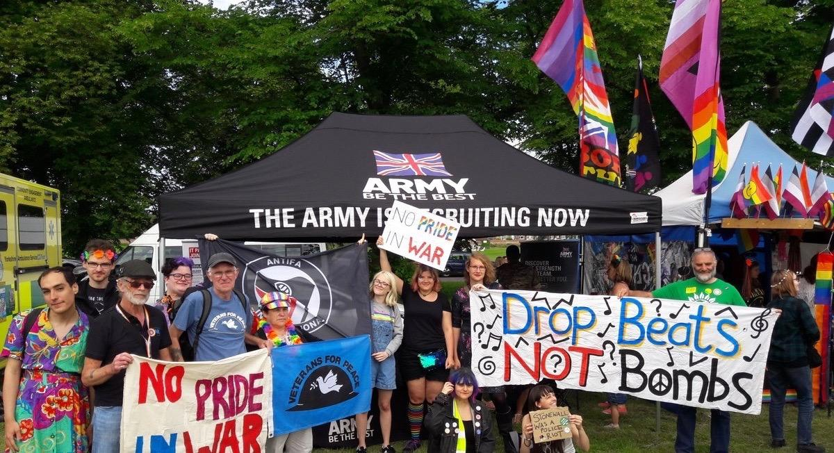 No Pride in War protest at York Pride 2018