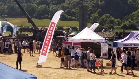BAE Systems stand at Armed Forces Day National Event in Llandudno 2018