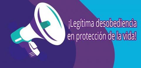 Colombian poster promoting International Conscientious Objectors' Day