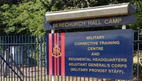 Military Corrective Training Centre (military prison) in Colchester