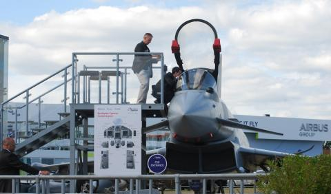 Eurofighter on display at Farnborough 2018
