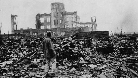 Hiroshima after the bombing, 1945