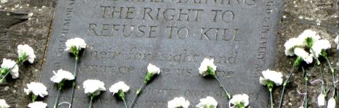 Conscientious Objectors memorial stone inscription in Tavistock Square