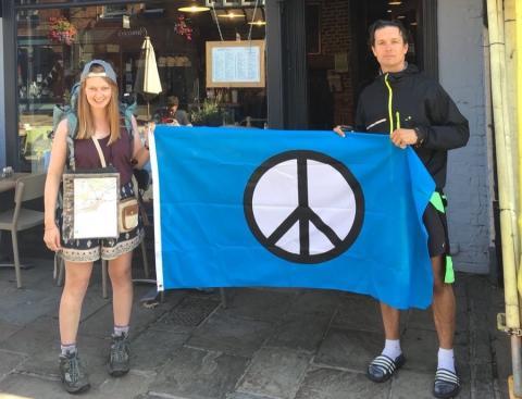 Peace pilgrims on their walk