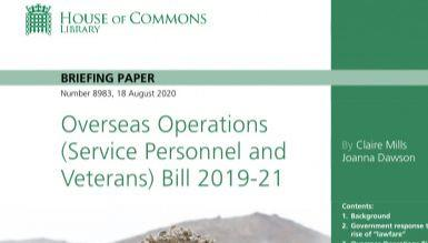 Picture of House of Commons briefing paper on the Overseas Operations Bill