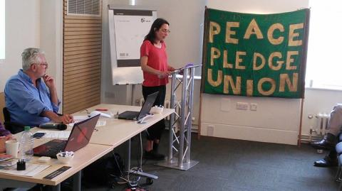 Melanie Strickland addressing PPU conference