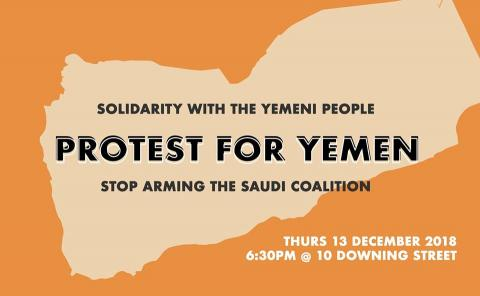Poster advertising Protest for Yemen