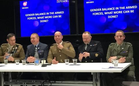 All-male panel debating gender balance in the UK armed forces